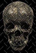 skull in diamond-plate